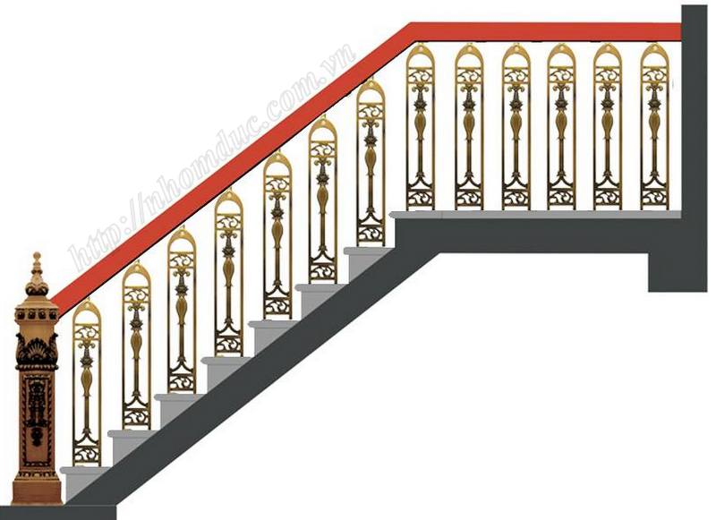 cầu thang nhôm đúc thay thế cho các sản phẩm cầu thang khác. Cầu thang nhôm đúc bền, đẹp, thẩm mỹ.