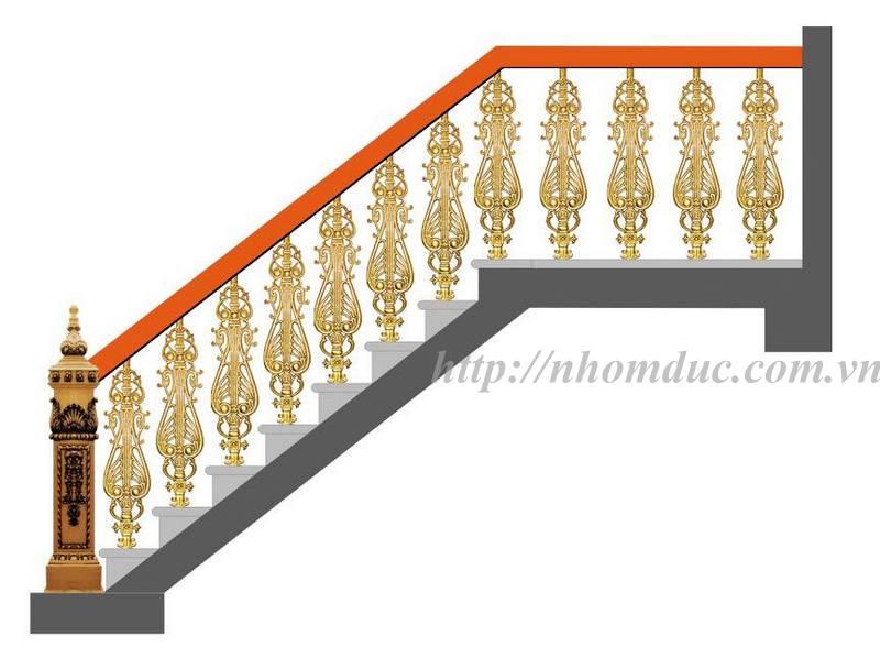 báo giá các loại cầu thang nhôm đúc con tiện, cầu thang nhôm đúc vỉ, cầu thang nhôm đúc cong.
