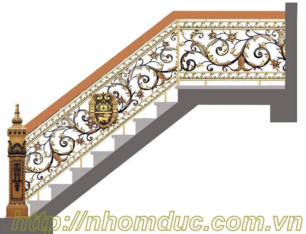 Cầu thang nhôm đúc, Cầu thang hợp kim nhôm đúc với nhiều nét sang trọng là cầu thang đẹp và bền, cầu thang nhôm đúc có giá phải chăng