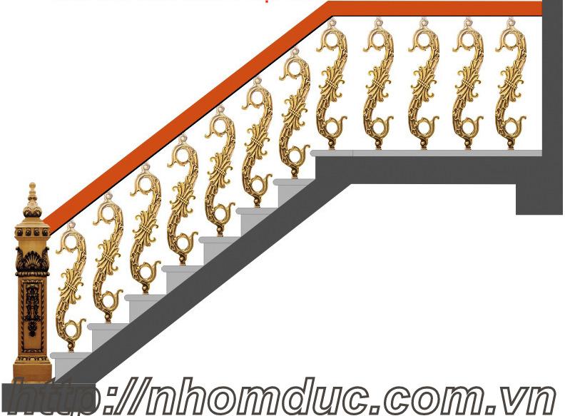 Trụ cầu thang nhôm đúc