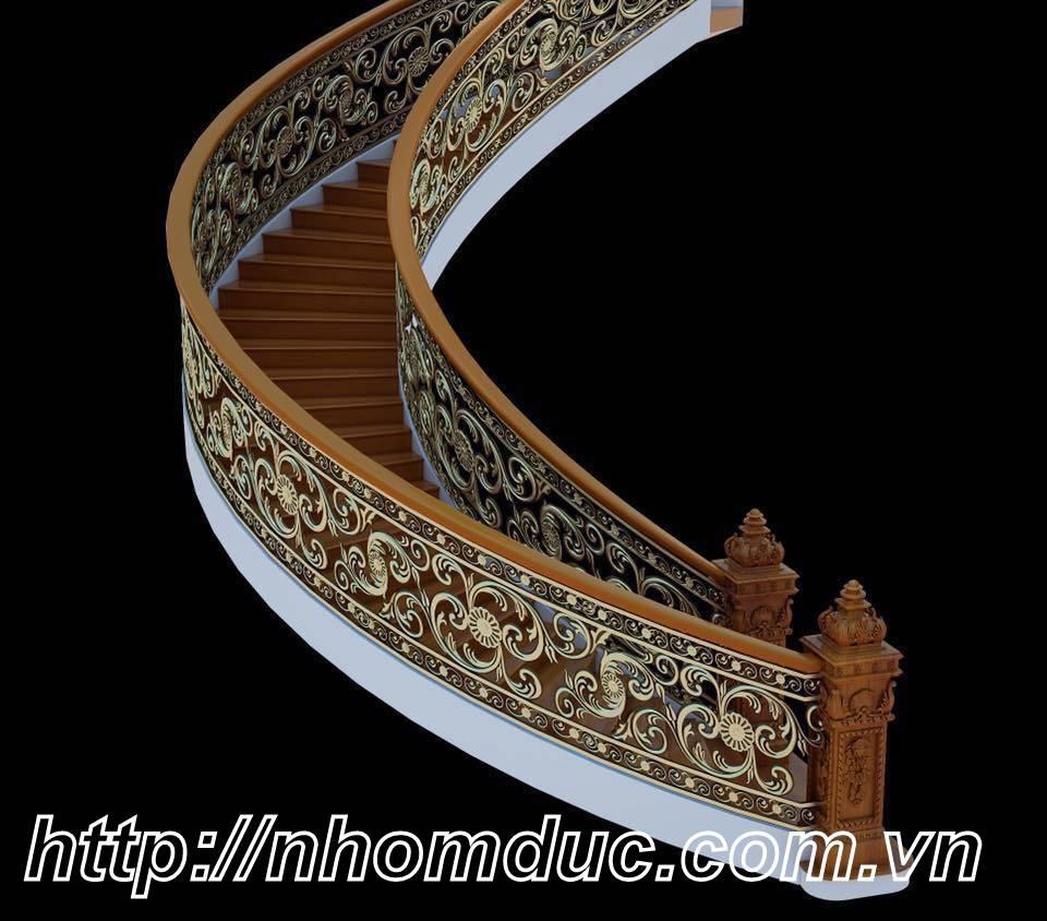 cầu thang hợp kim nhôm đúc, bền đẹp sang trọng với chất liệu 96% hợp kim nhôm