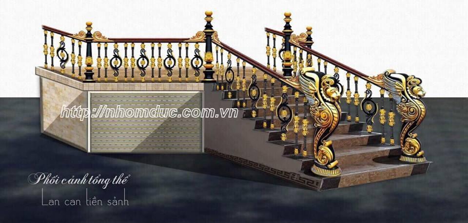 Cầu thang nhôm đúc, Nhôm đúc Fuco, Cổng nhôm đúc