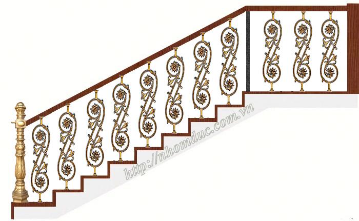 Cầu thang nhôm đúc, Chuyên sản xuất, tư vấn, thiết kế, thi công cầu thang nhôm đúc bền đẹp
