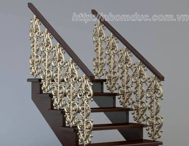 Cầu thang hợp kim nhôm đúc đặ