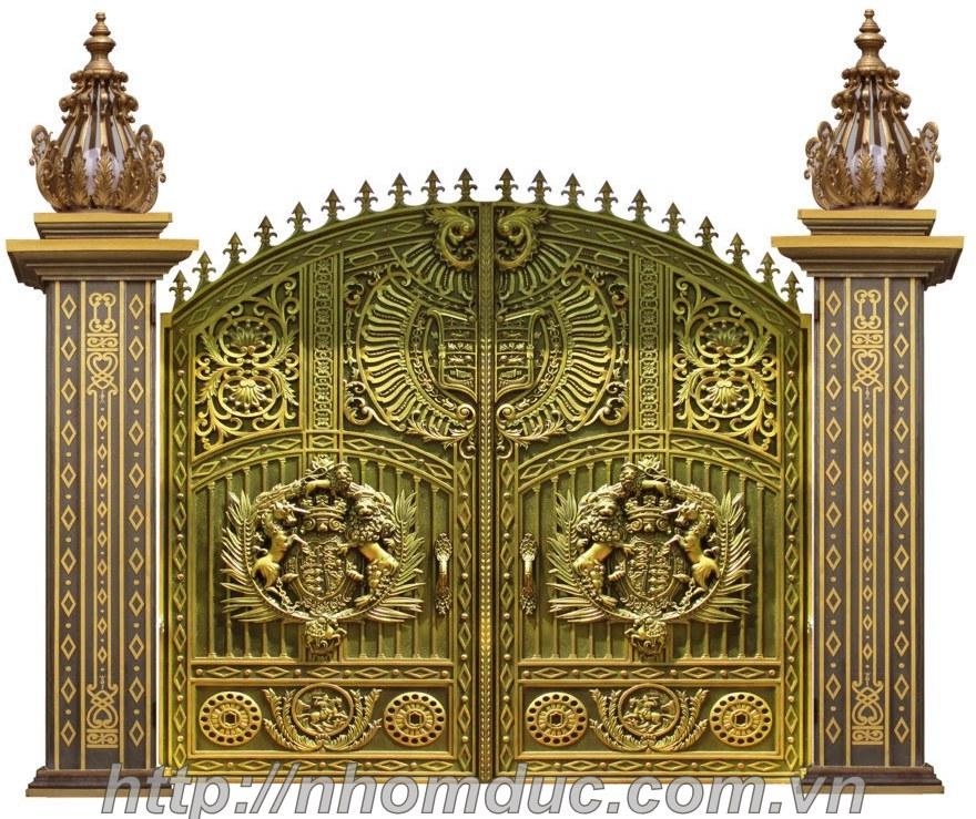 Mẫu cổng nhôm đúc Buckingham GAT