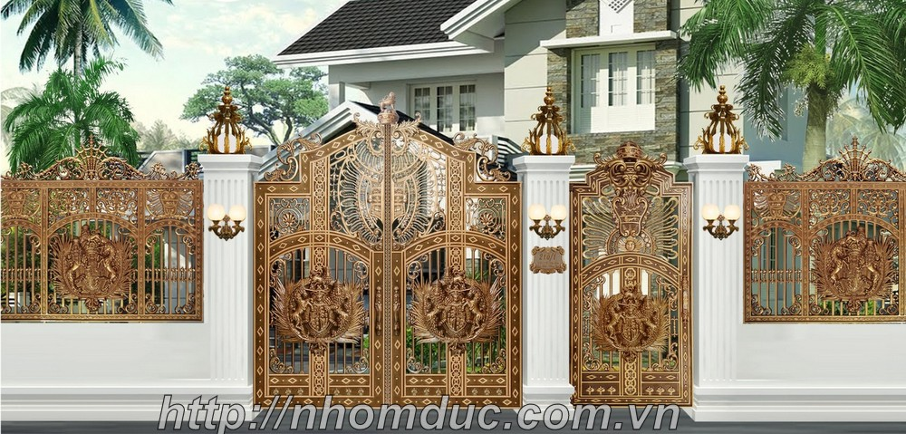 Nhận thiết kế cửa cổng nhôm đúc đẹp