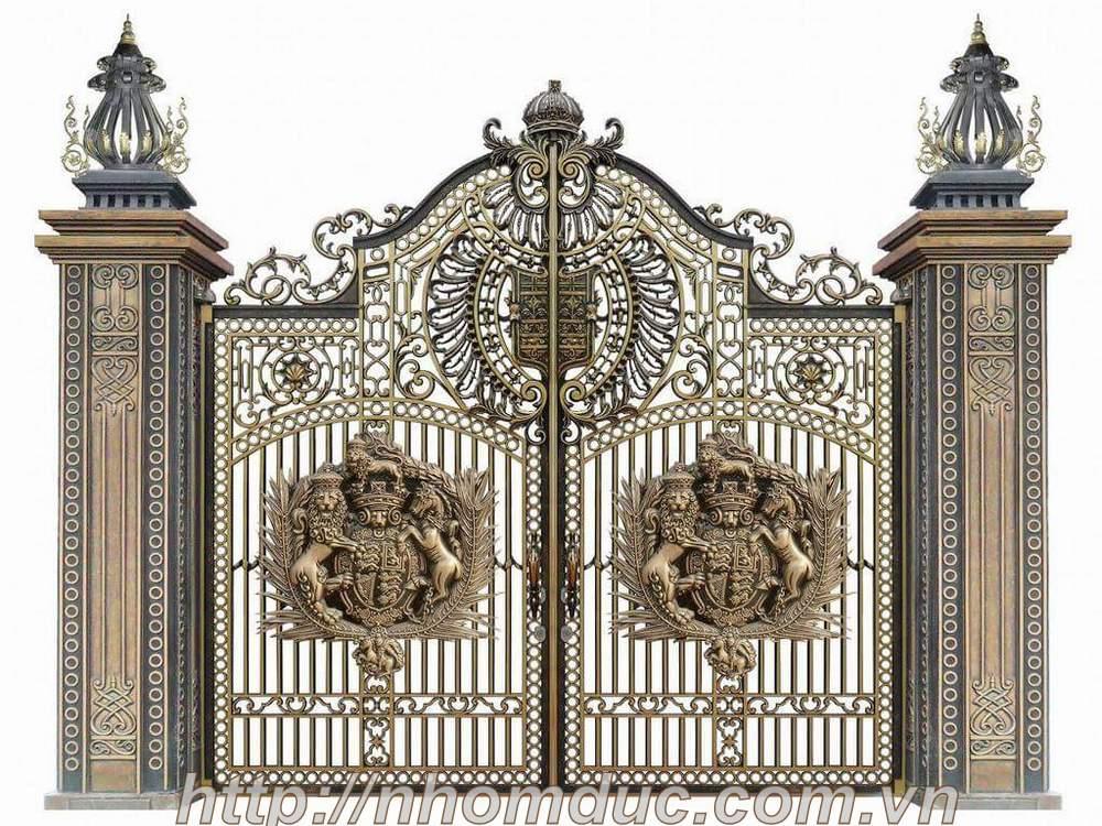 Buckingham Fuco Cổng nhôm đúc Buckingham Cổng Nhôm Đúc Phù Điêu Buckingham
