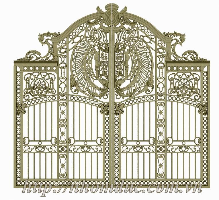 Cổng nhôm đúc phù điêu buckingham, nhôm đúc Fuco, cổng nhôm đúc phù điêu buckingham ngày càng được khách hàng ưa chuộng