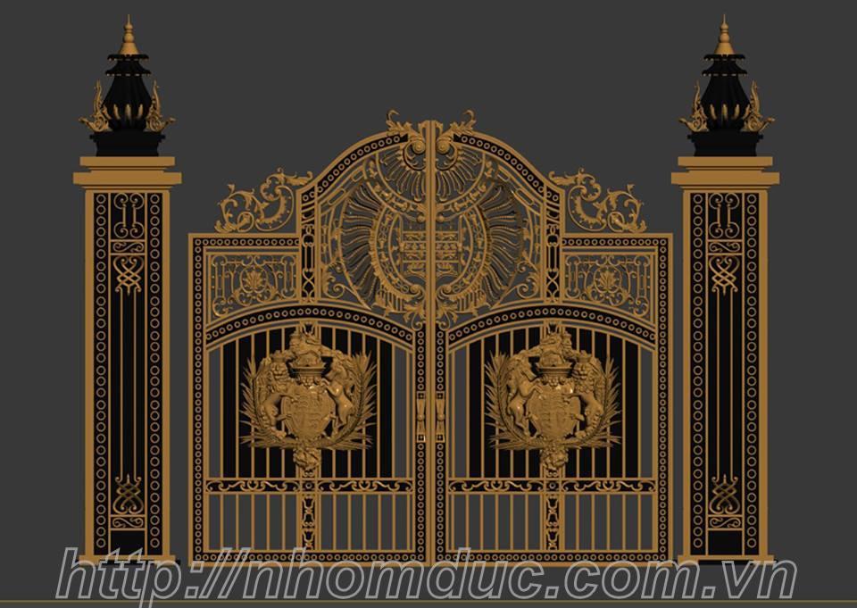 Bộ sưu tập cửa cổng nhôm đúc cho lâu đài