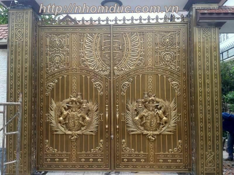 Báo giá cổng nhôm đúc 2017