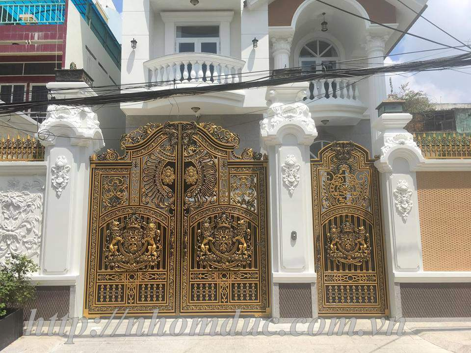 Cửa cổng nhôm đúc đặc hợp kim nhôm