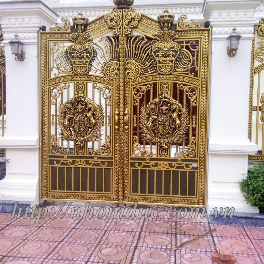Cửa cổng hợp kim nhôm đúc ghép