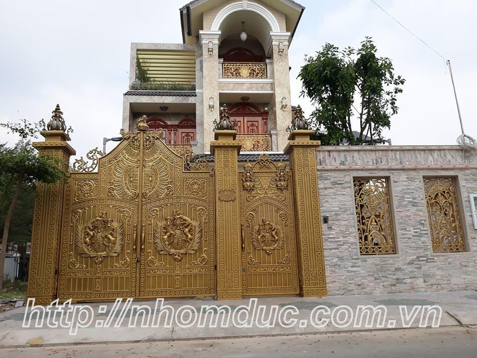 Cửa cổng hợp kim nhôm đúc đẹp nhất Việt Nam