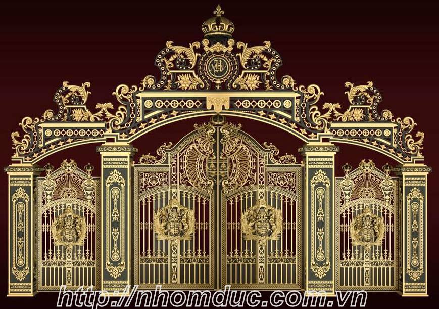 Mẫu cửa cổng nhôm đúc GAT,  Nhôm đúc Hà Nội