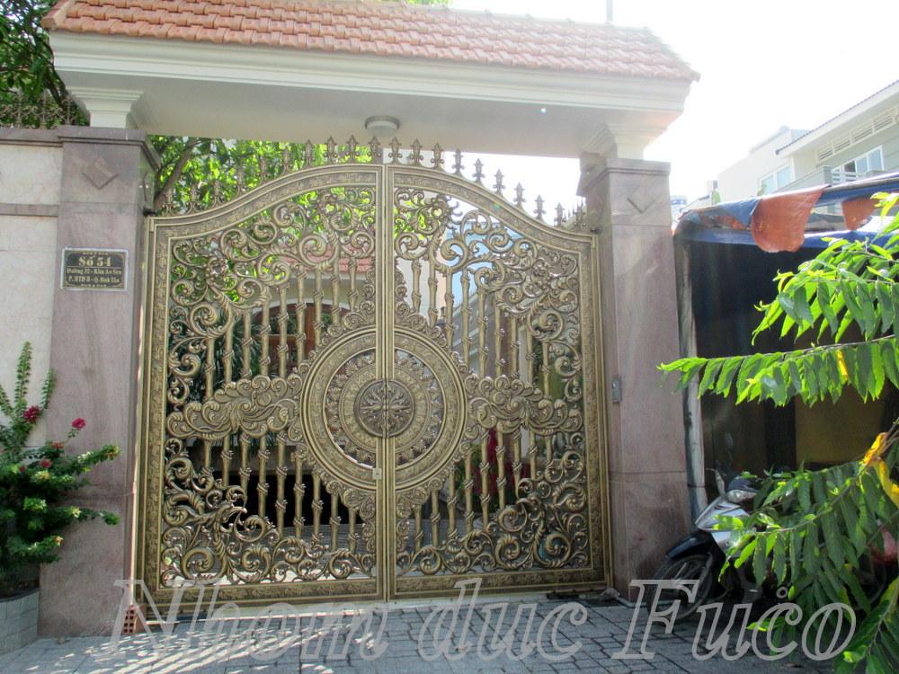 Các mẫu cổng nhôm đúc đẹp, Nhận đúc cổng theo yêu cầu