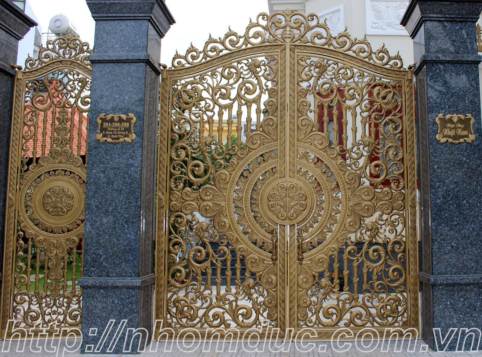Cổng Nhôm Đúc, Cửa cổng cao cấp