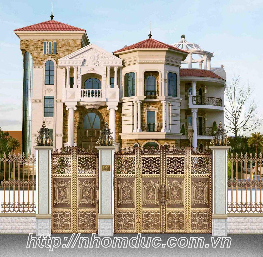 Nhà máy cổng nhôm đúc, cổng biệt thự, cửa nhôm đúc