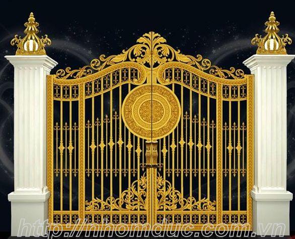 Thi công cổng nhôm đúc Huyện Hóc Môn Hồ Chí Minh, Nhôm đúc Fuco