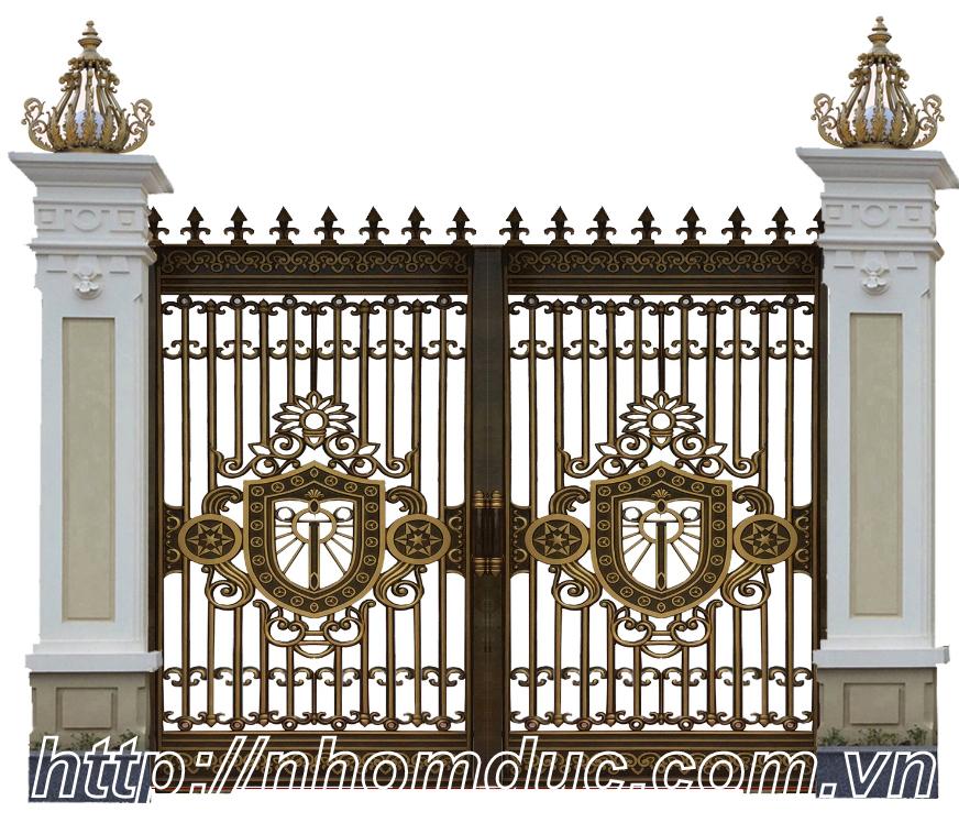 Mẫu cửa nhôm đúc Fuco - cổng nhôm đúc Quận 8, Hồ Chí Minh