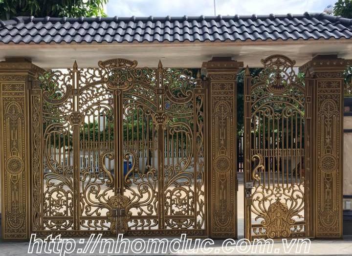 Các mẫu cổng nhôm đúc đẹp