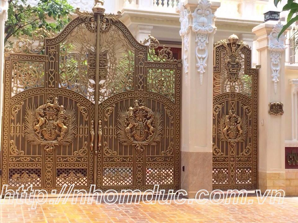 Thi công cổng nhôm đúc Huyện Củ chi Hồ Chí Minh