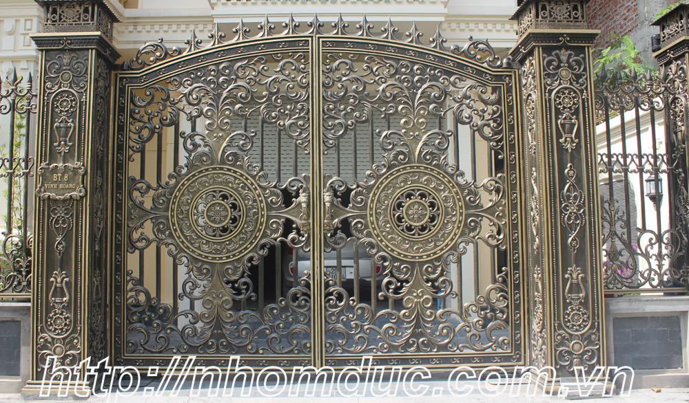 Thi công cổng nhôm đúc Quận Phú Nhuận, Hồ Chí Minh