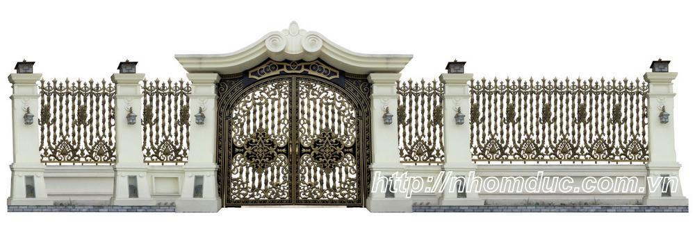 Thi công cổng nhôm đúc Quận 12, Hồ Chí Minh