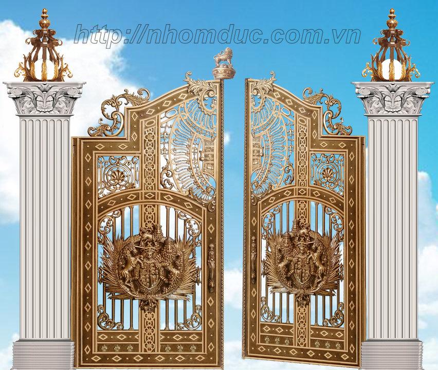 Báo giá cổng nhôm đúc đẹp sang trọng