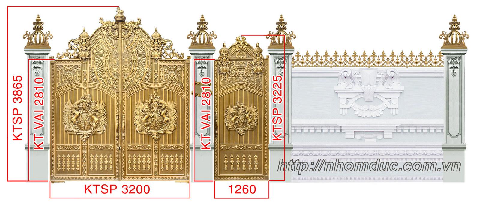 Mẫu cổng nhôm đúc đẹp, cổng nhà hiện đại