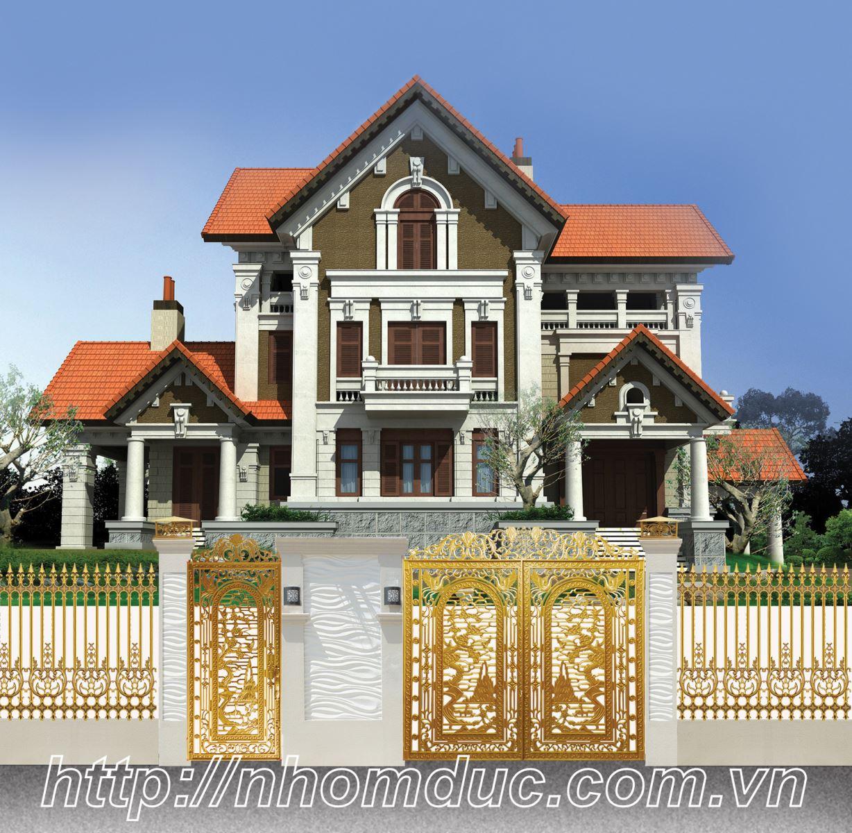 Tổng hợp các mẫu cửa cổng nhôm đúc biệt thự đẹp