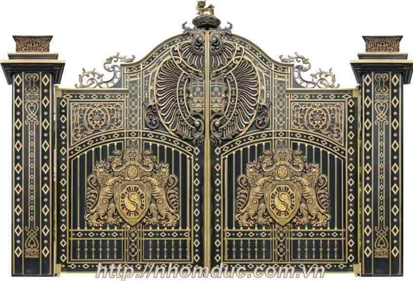 Mẫu cửa nhôm đúc GAT, cửa cổng nhôm đúc Fuco