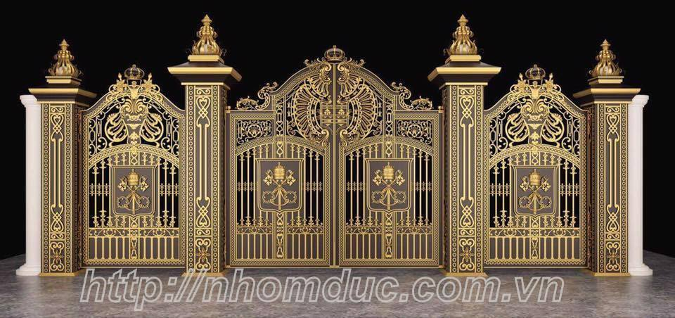 Mẫu cổng nhôm đúc tham khảo