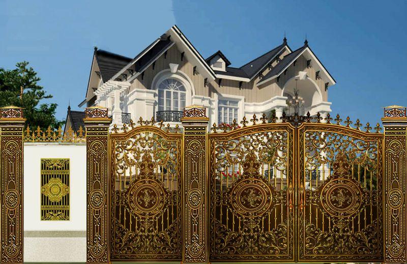 Thiết kế nhôm đúc tại Biên Hòa, Cửa cổng hợp kim nhôm đúc Fuco