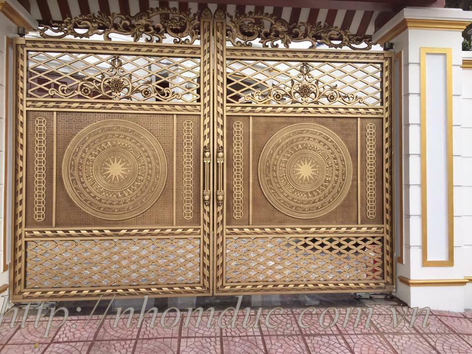 Tổng hợp các mẫu thiết kế cửa cổng nhôm đúc đẹp, Cổng Nhôm Đúc