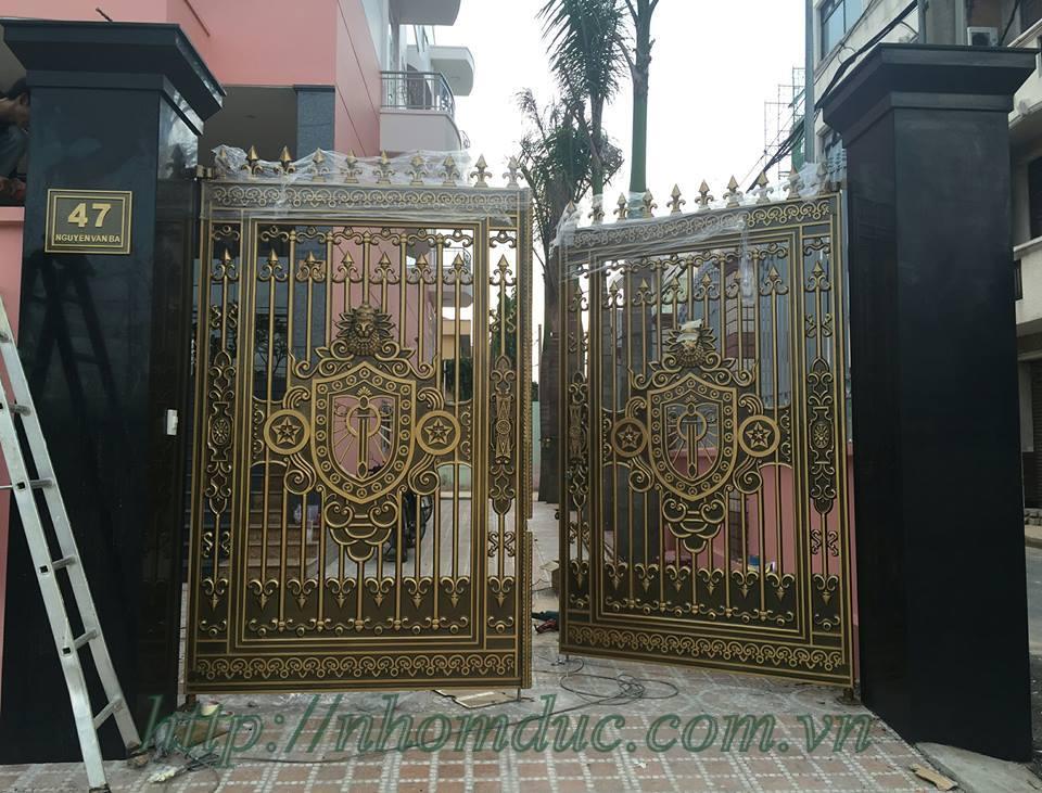 Bảng giá cửa cổng đúc hợp kim nhôm, báo giá cổng nhôm đúc, cổng nhôm đúc, cổng nhôm đúc