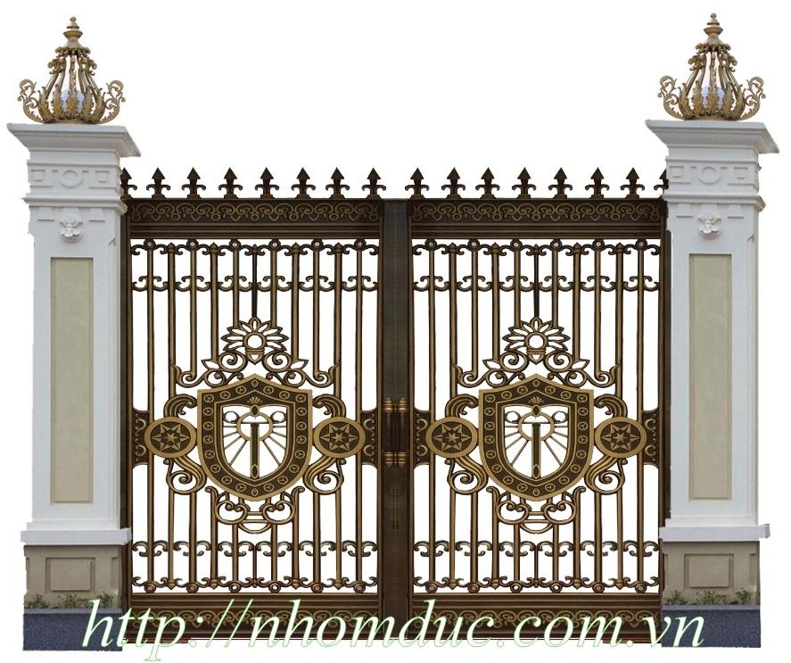 Mẫu cửa nhôm đúc Hà Nội 1, Cổng cửa hợp kim nhôm đúc cao cấp tại Hà Nội