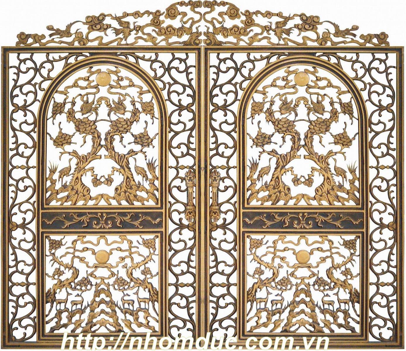 Cong nhom duc là sản phẩm cửa cổng được đúc bằng hợp kim nhôm