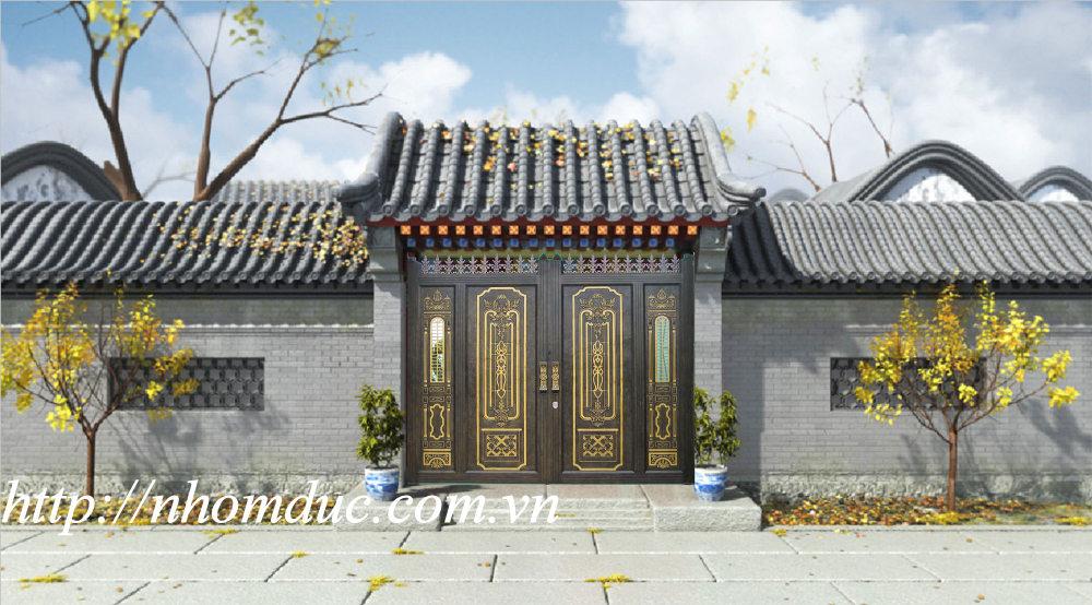 Cửa cổng nhôm đúc Fuco mẫu mã đẹp, sản xuất công nghệ Nhật Bản, sơn tĩnh điện cao cấp. Cửa nhôm đúc chất lượng cao