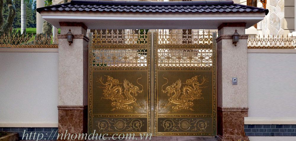 Mẫu cửa cổng nhôm đúc