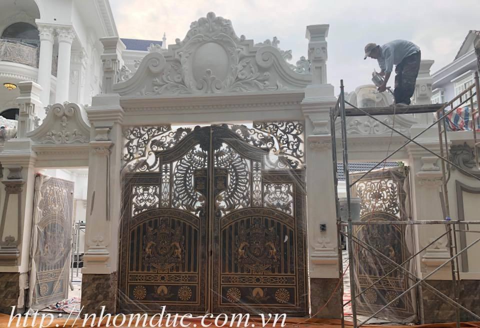 cửa cổng biệt thự nhôm đúc Fuco Thanh Hóa, cửa cổng biệt thự nhôm đúc Fuco Bỉm Sơn, cửa cổng biệt thự nhôm đúc Fuco Sầm Sơn