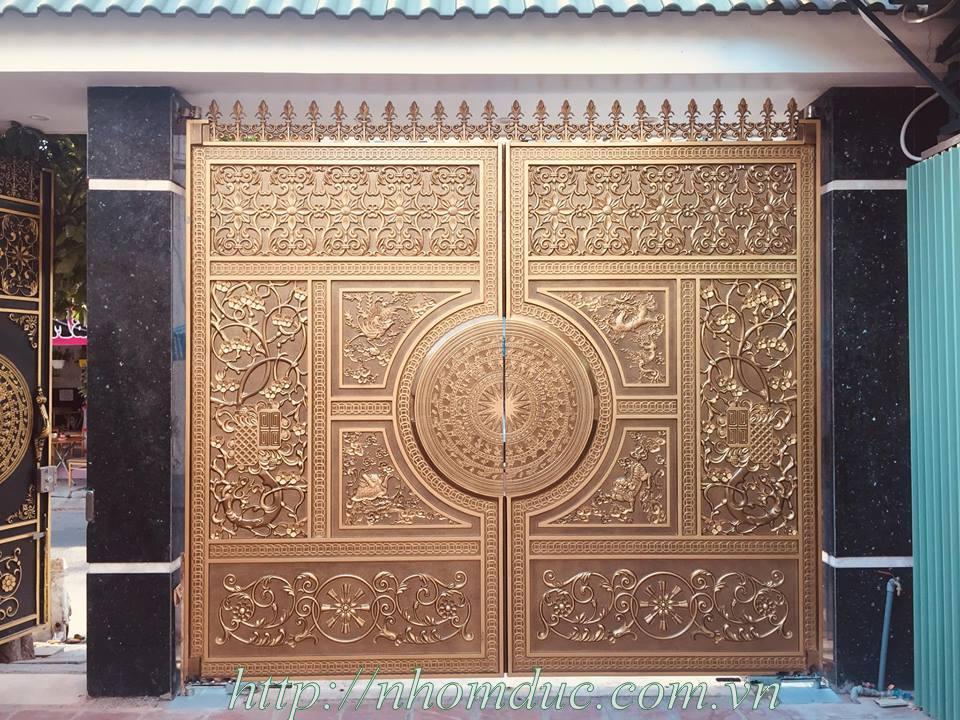 cửa cổng biệt thự nhôm đúc Fuco Mỹ Tho, cửa cổng biệt thự nhôm đúc Fuco