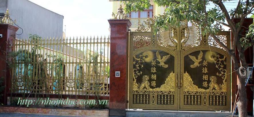 cổng nhôm đúc giá rẻ Fuco Bình Phước, cổng nhôm đúc giá rẻ Fuco Đồng Xoài, cổng nhôm đúc giá rẻ Fuco Bình Long