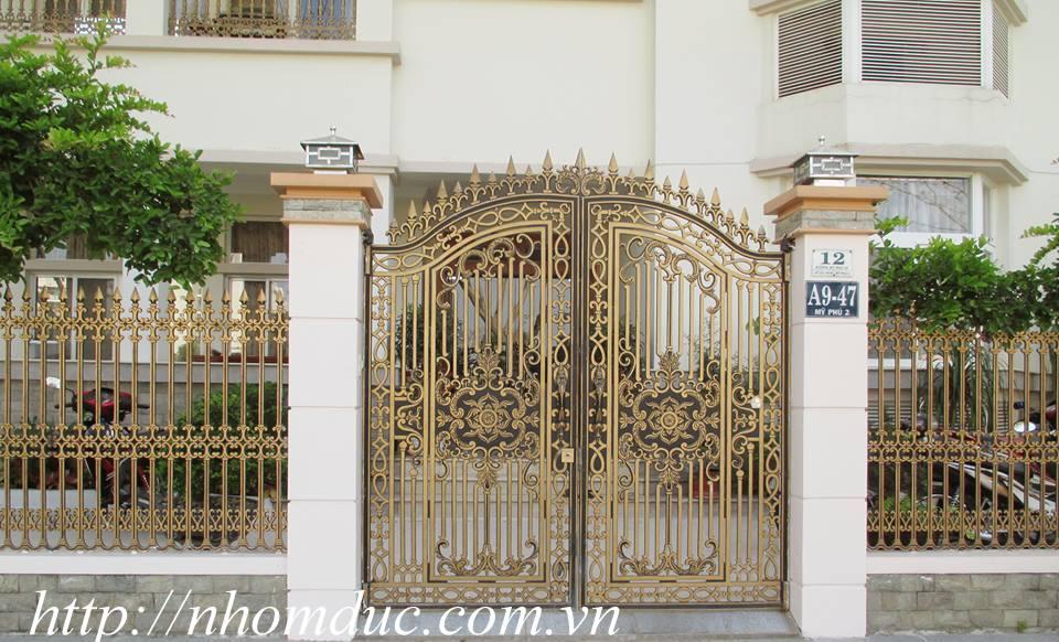 Mẫu cổng nhôm đúc biệt thự hiện đại, cổng nhôm đúc, cửa nhôm đúc, cửa biệt thự đẹp, cổng biệt thự đẹp