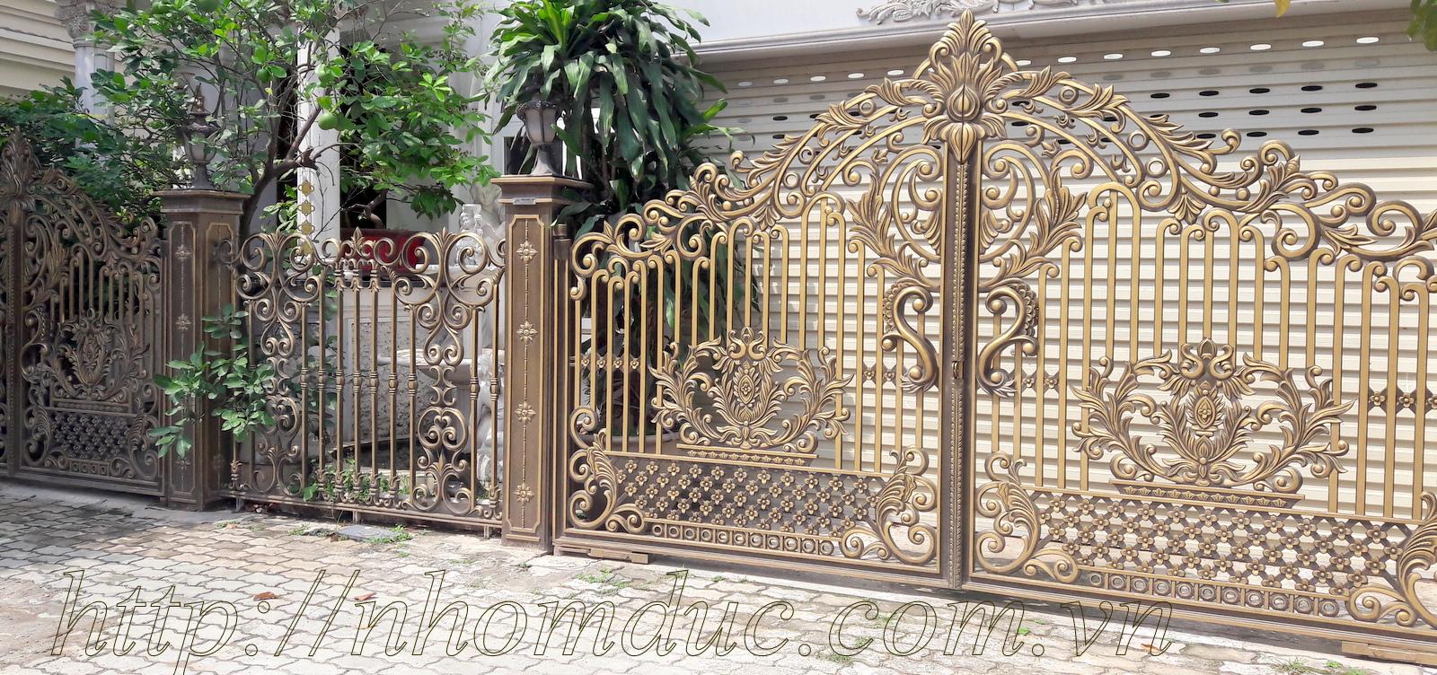 Quy trình gia công chế tạo cổng cửa nhôm đúc -