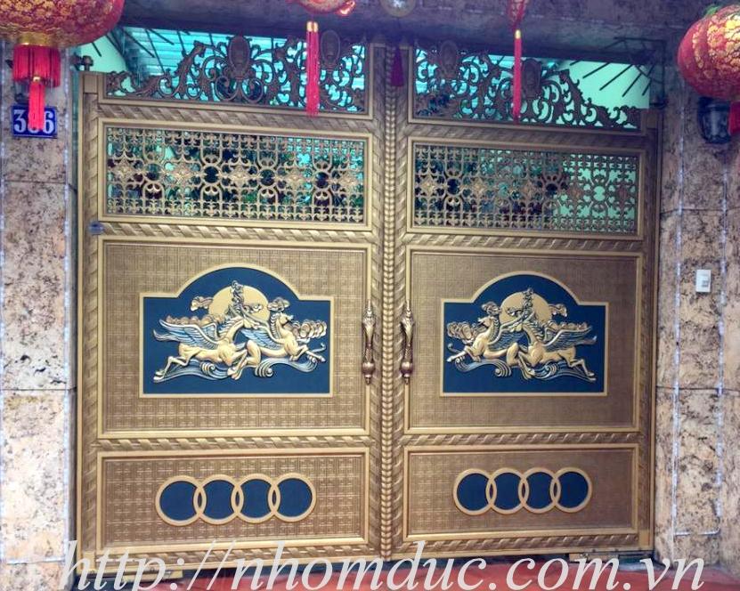 báo giá các loại cổng nhôm đúc từ cổng nhôm đúc đơn giản đến cổng nhôm đúc phức tạp, cổng nhôm