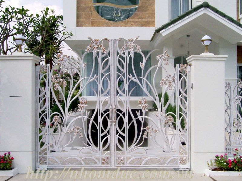 ửa nhôm đúc, cửa biệt thự đẹp, cổng biệt thự đẹp. Các mẫu cổng cửa nhôm đúc Fuco