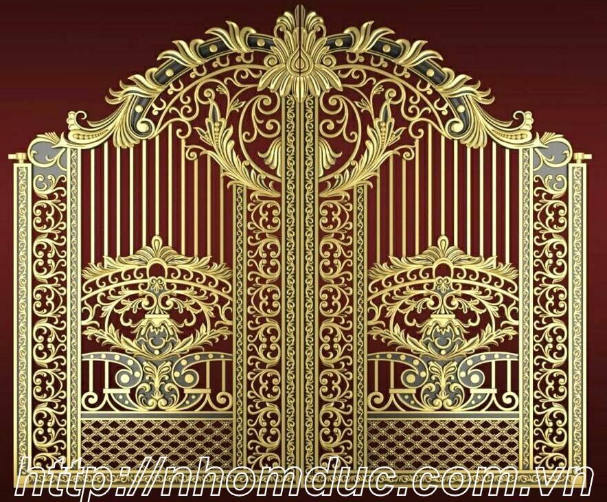 ổng cửa hợp kim nhôm đúc cao cấp tại Hà Nội, cty Fuco chuyên sản xuất lắp đặt các loại cổng