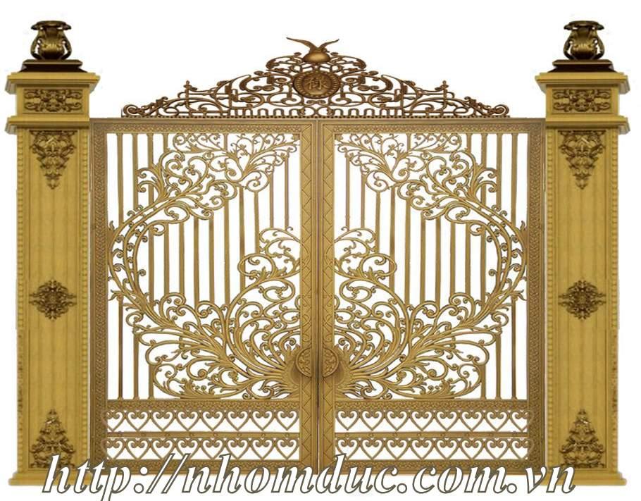 cửa cổng nhôm đúc Fuco mẫu mã đẹp, sản xuất