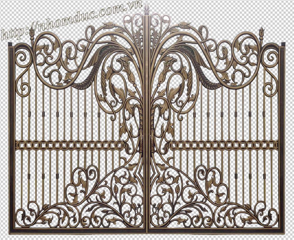 cửa cổng nhôm đúc GAT