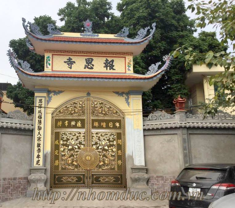 Cổng nhôm đúc nhà chùa GAT 704, Cổng nhà chùa
